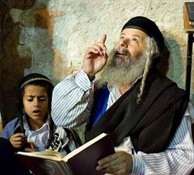 Rabbi and Child Praying 001