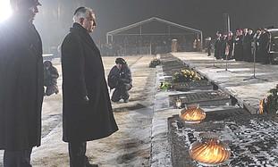 Netanyahu at Jewish Concentration Camp