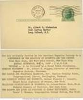 1939 Eugenics Society Invitation