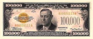 The $100,000 Gold Certificate of 1934