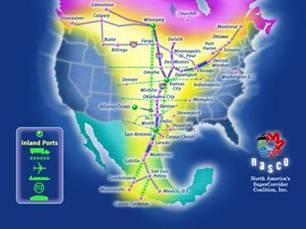 North American Super-Corridor Coalition Map