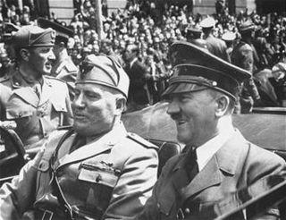 Adolf Hitler and Benito Mussolini in Munich