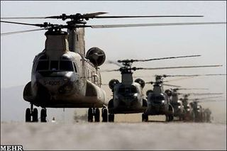 Iranian Chinook Helicopters