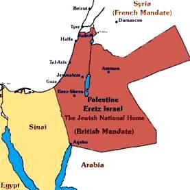 1920 British Mandate Jewish Homeland