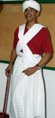 Barack Hussein Obama in Traditional Muslim Garb