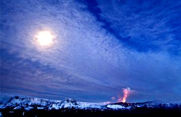 Eyjafjallajokull Volcano Erupting