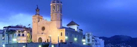 Spanish Mediterranean Resort at Sitges Spain