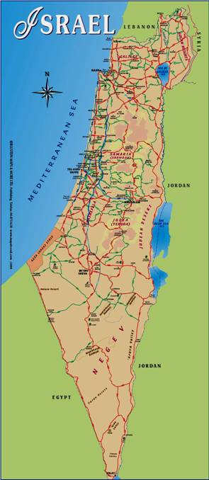 Map of New Israel