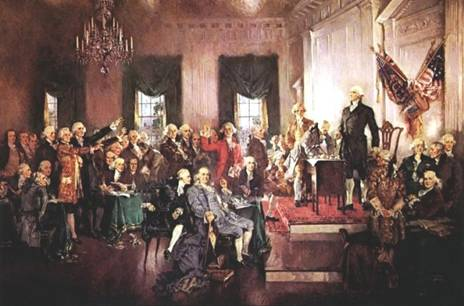 Signing the Constitution of the United States