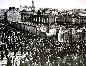 Jews entering Warsaw's Ghetto