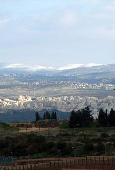 Snow on Shomron Hills - From Elad