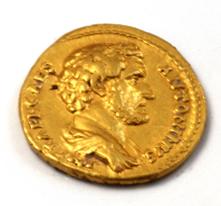 Golden Coin Antoninus Pius